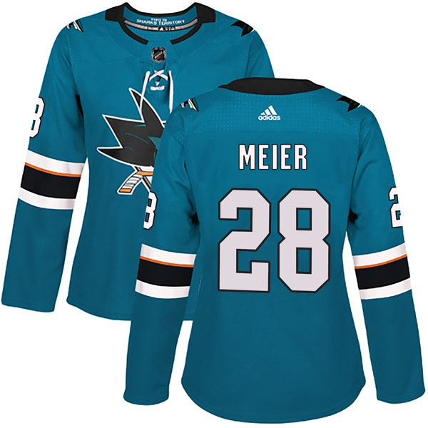 bcc6fbeb Women's Timo Meier San Jose Sharks Adidas Home Jersey - Authentic Teal